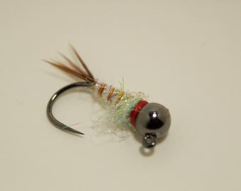 Tungsten Surveyor #12 Jig Hook Euro Nymph set of 3 hand tied flies