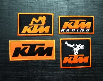 Wholesale Lot Logo motocross Racing Biker Embroidered Motor Racing Sport 4 Pcs
