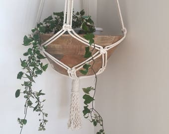 Macrame Plant hanger/ Plant hanger/ bathroom decor/ outdoor & Living/ kitchen decor/modern macrame/wall hanging/co-worker gifts/birthday gif