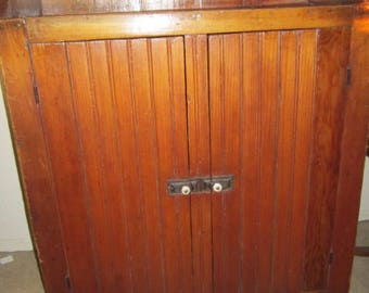 Vintage beadboard etsy for Beadboard kitchen cabinets for sale
