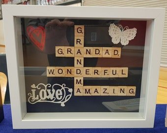 Personalised Scrabble Frame - Gandparents