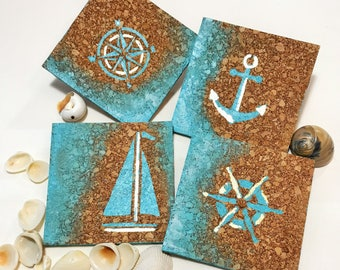 Nautical Beach Coasters