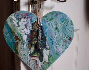 Unique Hearts,  Home Decor, wall hanging Heart 19cm, New home, Art, Anniversary,
