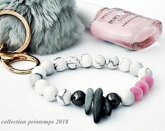 howlite, hematite, trendy, modern women bracelet