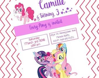 My Little Pony Birthday Girl Invitation