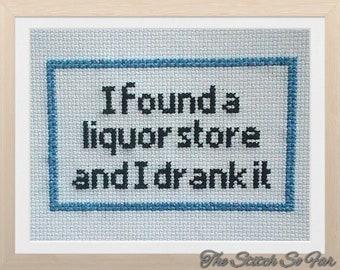 I found a liquor store