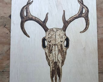 Wood burnt plaque Pyrography