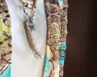 Decorated Antler Tip Necklace