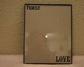 8x10in Frames w/ Text on Glass