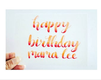 Personalised Birthday Card Brush Blending