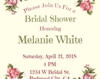 Bridal Shower Invitation Bridal Shower Party
