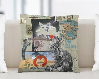 Tel Aviv Street Art - Cushion 45 x 45 cm