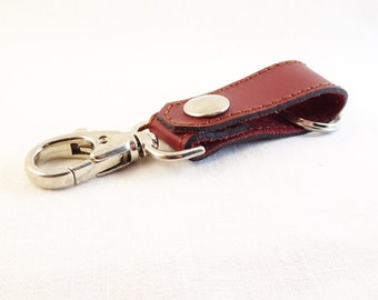 Keychain clasp. Mirly leather France