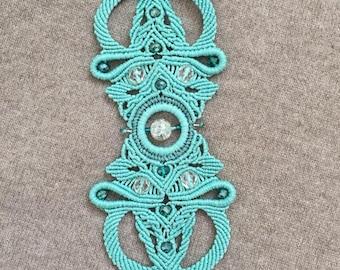Turquoise bracelet, handmade bracelet, macrame bracelet, unique bracelet,  gift for her, ladies bracelet,macrame jewelry,