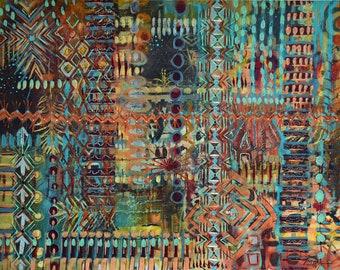 Mixed Media, Acrylic, painting, original, abstract, symbols