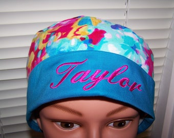 Ponytail Style Surgical Scrub Hat - Monogrammed