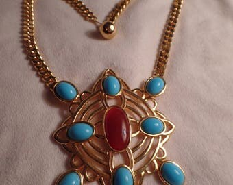 "1960's Large and Impressive Necklace-Signed ""OR"""