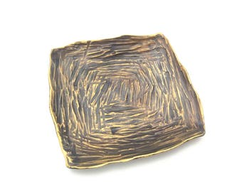 Hammered Bronze Ring Dish