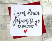 years down, forever to go personalised card, wedding anniversary card, valentines day card, love card, husband card, wife card, uk seller