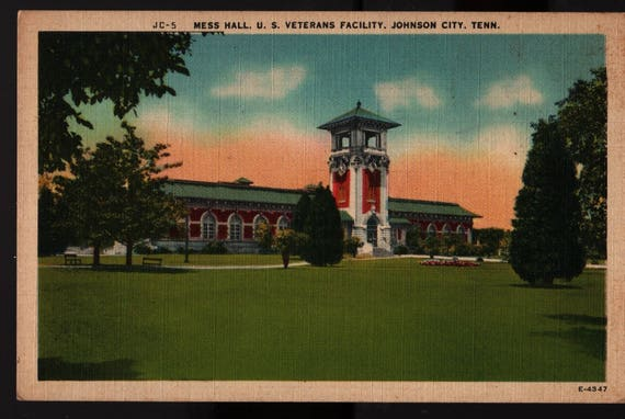 Mess Hall US Veterans Facility - Johnson City, Tennessee - Vintage Postcard