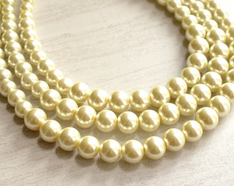 Julianne - Ivory Pearl Bridesmaid Necklace