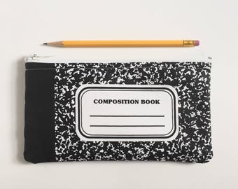 Pencil Case Composition Notebook Pouch Personalization Optional