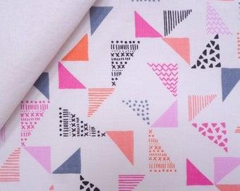 Pastel Geo fabric felt  :  Just Right on White