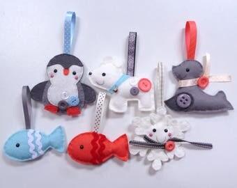 Winter Animals - Large Kit - Felt sewing kit