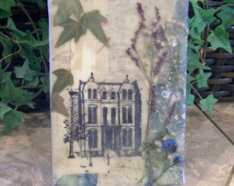 dried flowers art, flower collage 2, country decor, rustic art, farmhouse decor, encaustic art, rustic art