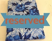 Reserved Blue Floral Junior Legal Pad Cover