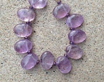 Amethyst bracelet, purple