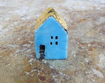 house bead,kiln fired,clay, raku