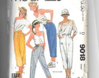 McCall's Misses' Pants Pattern 9018