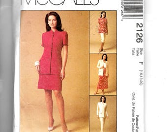 McCall's Misses' Jacket and Pants Pattern 2126