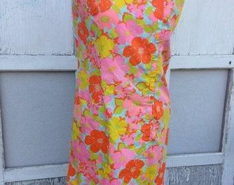 MEMORIAL DAY SALE- Flower Power Dress-Vintage