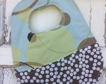 CRAZY SALE- Quilted Dot Bib-Wee Ones Bib Collection-Reversible