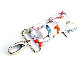 LippyClip® Lip Balm Holder for Chapstick, Burt's Bees, etc. |  Clip-On Keychain | Vintage Butterfly