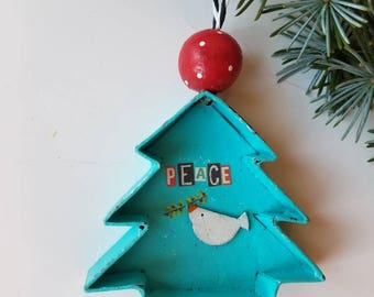 christmas...ornament...peace tree and dove