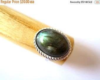 CIJ SALE Labradorite Ring.  Sterling Silver. Adustable.  Clearance SALE