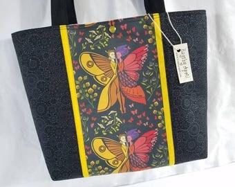 Fairy Tale Garden Fairies Moths Butterflies purse tote bag So Lovely!