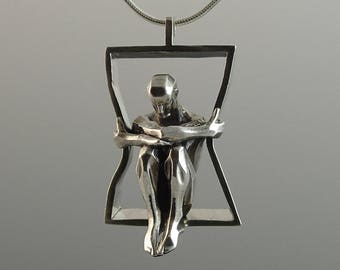 IN A FRAME silver pendant