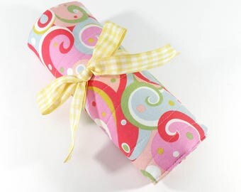 reserved for NounasNitsandMore  - DPN ORGANIZER - Pink Swirl Knitting Organizer Needle Case