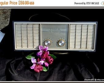 July 4th Sale Radio, Vintage Philco Twin Speaker Radio, AM Tube Radio, Fathers Day Gift, Birthday Gift