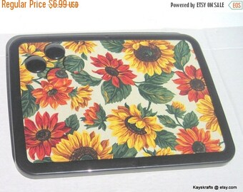 Christmas In July 30% Off Yellow Orange Sunflowers Magnetic Board, Magnetic Bulletin Board, Magnet Pin Board, Autumn Fall Decor, Kitchen Dec