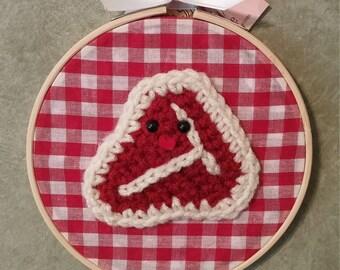 It's T-bone, not Koko - Crochet Wall Art