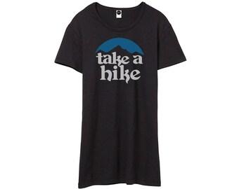 Outdoors Take A Hike Tshirt • Vintage Inspired 70s Tee • Graphic Shirt T-Shirt • Hiking Shirts • Bohemian Boho Clothing • Womens Printed Top