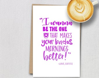Foil cards - Coffee quotes - Better Morning