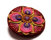 HALF PRICE Summer Sale BROOCH - Marrakech felt brooch pin with freeform embroidery - scandinavian style