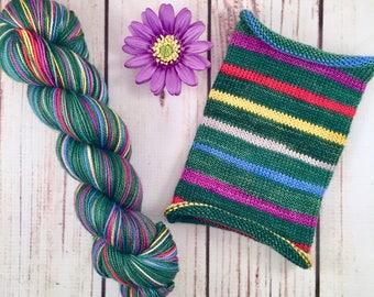 O Christmas Feet, long repeat: Hand-dyed gradient self-striping sock yarn, 80/20 SW merino/nylon