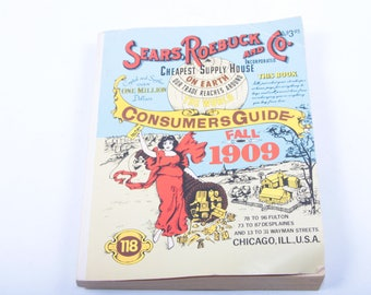 Consumers Guide Fall 1909, Sears Roebuck And Co, Vintage, Product, Catalog, Small Reprint, Ventura Books, 1979 ~ The Pink Room ~ 161227